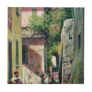Straße in der italienischen Stadt durch Fyodor Keramikfliese