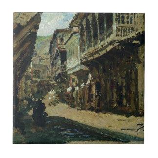 Straße in Tiflis durch Ilya Repin Fliese