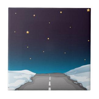 Straße nachts keramikfliese