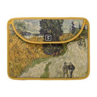 Straße Vincent van Goghs | mit Zypressen, 1890 Sleeves Für MacBook Pro