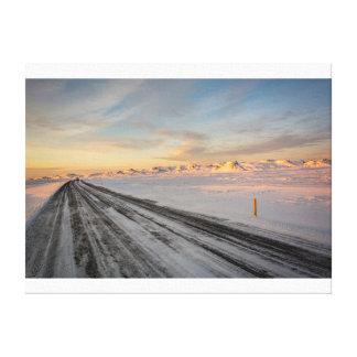 Straße zum Sonnenuntergang Leinwanddruck