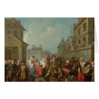 Straßen-Karneval in Paris, 1757 Karte