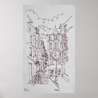 Straßen-Szene, Heiliges-Malo   Bretagne, Poster