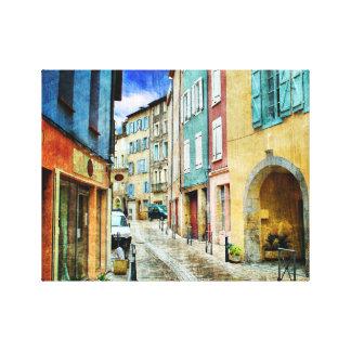 Straßen-Szenen-Europäer Leinwanddruck