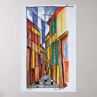 Straßen von Bastia | Korsika, Frankreich Poster