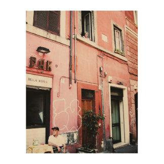 Straßen von Rom Holzleinwand