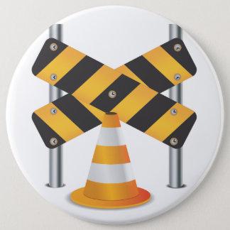 Straßenarbeiten Runder Button 15,3 Cm