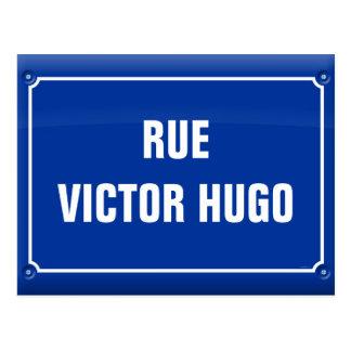 Straßenplatte - Victor Hugo - FRANKREICH Postkarte