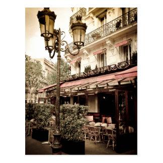 Straßenrestaurant, Paris, Frankreich Postkarte