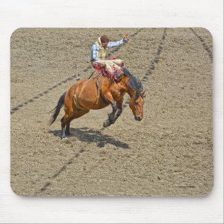 Sträubendes Pferden-und Rodeo-Cowboy #Gift Mauspads