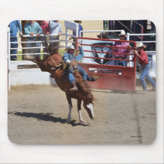 Sträubendes Pferden-und Rodeo-Cowboy #Gift Mousepad