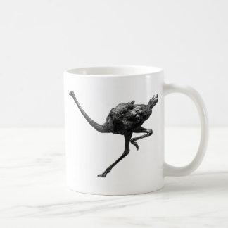 Strauß-laufende Skizze Kaffeetasse