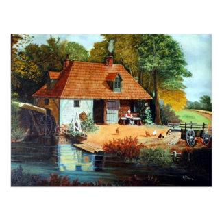 Streamside Mühle Postkarte
