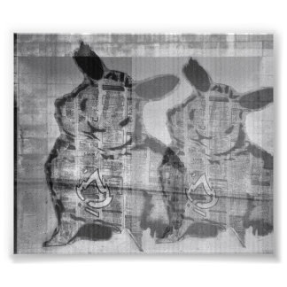 street art rabbit fotodruck