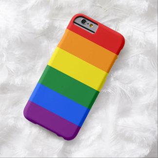 Streifen der LGBT Gay Pride-Regenbogen-Flaggen-6 Barely There iPhone 6 Hülle