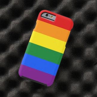 Streifen der LGBT Gay Pride-Regenbogen-Flaggen-6 Tough iPhone 6 Hülle