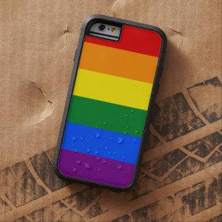 Streifen der LGBT Gay Pride-Regenbogen-Flaggen-6 Tough Xtreme iPhone 6 Hülle
