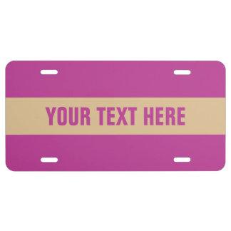 Streifen-Mustergewohnheits-Kfz-Kennzeichen US Nummernschild