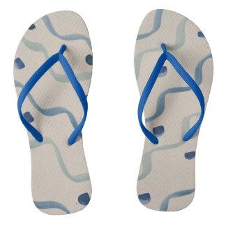 Streifen-Punkt-Blau Badesandalen