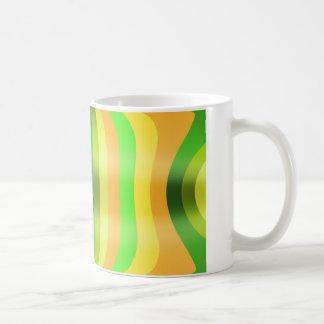 Streifenschwung in bunt kaffeetasse