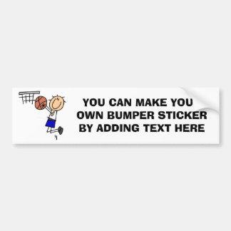 Strichmännchen-Basketball-Wanne T-shirs und Autoaufkleber
