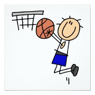 Strichmännchen-Basketball-Wanne T-shirs und Individuelle Einladungskarte