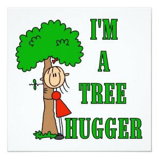 Strichmännchen-Baum Hugger T - Shirts und Quadratische 13,3 Cm Einladungskarte
