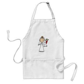 Strichmännchen-Braut-T-Shirts und Geschenke Schürze