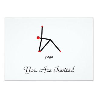 Strichmännchen der Dreieckyoga-Pose mit Yogatext 12,7 X 17,8 Cm Einladungskarte