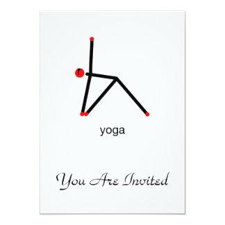 Strichmännchen der Dreieckyoga-Pose mit Yogatext Individuelle Ankündigskarten