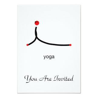 Strichmännchen der Kobrayoga-Pose mit Yogatext Individuelle Ankündigung