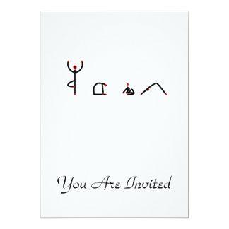Strichmännchen der Yoga-Posen, die YOGA 12,7 X 17,8 Cm Einladungskarte