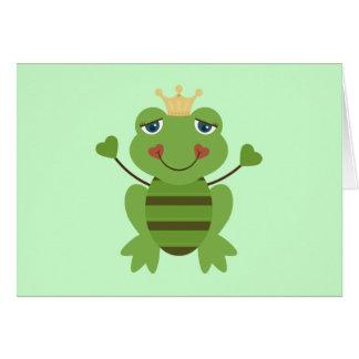 Strichmännchen-Frosch-Prinz Karte