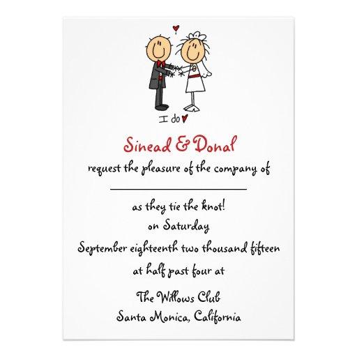 Strichmännchen-Hochzeits-Einladung