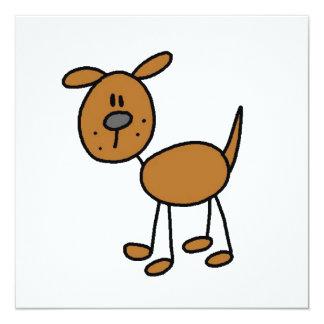 Strichmännchen-Hundet-shirts und -geschenke Individuelle Ankündigungskarte