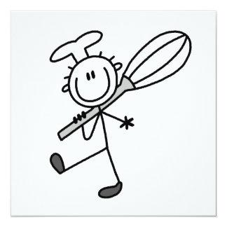 Strichmännchen-Koch mit wischen Individuelle Ankündigung