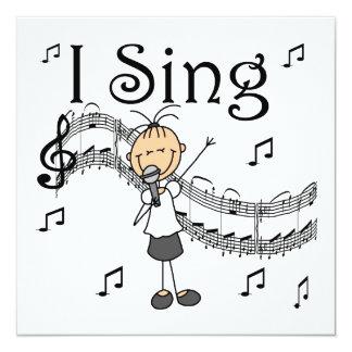 Strichmännchen-Mädchen singe ich T - Shirts und Ankündigung
