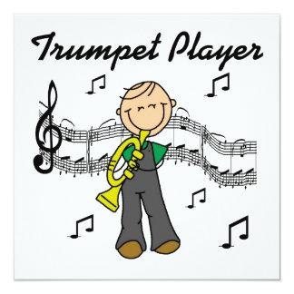 Strichmännchen-männliche Trompete-Spieler-T - Personalisierte Einladung