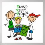 Strichmännchen verringern Wiederverwendung recycel Posterdruck