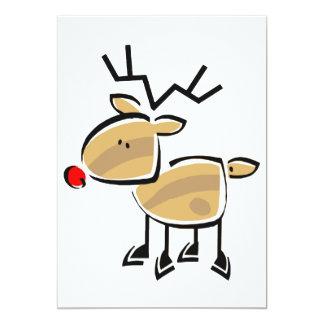 Strichmännchen-Weihnachtsren Karte