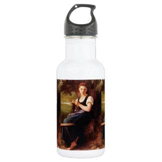 Strickende Frau durch William-Adolphe Bouguereau Trinkflasche