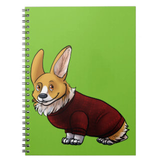 Strickjacke Corgi Notizblock