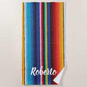 Stricktes Individuelle Name Serape Party Strandtuch