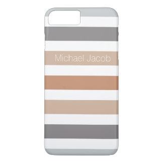 stripes neutrale Farbgraues Braun iPhone 8 Plus/7 Plus Hülle
