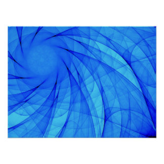 Strudel-Diamant im Blau Poster