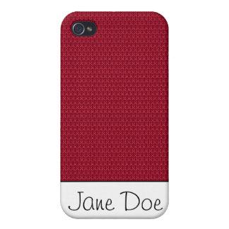 Strukturiertes Rot iPhone 4 Hüllen