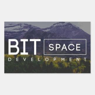 Stückchen-Raum-Entwicklungs-Aufkleber Rechteckiger Aufkleber