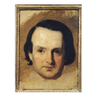 Studie für ein Porträt von Victor Hugo c.1836 Postkarte