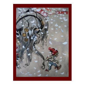 Studie für Julbocken (Weihnachtenziege) 1911 Postkarte