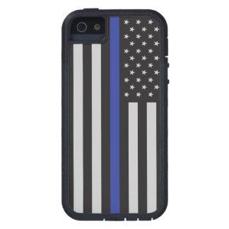 Stützen Sie die Polizei-dünne Blue iPhone 5 Case